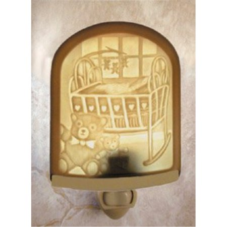 Nursery Porcelain Lithophane Night Light -- Curved