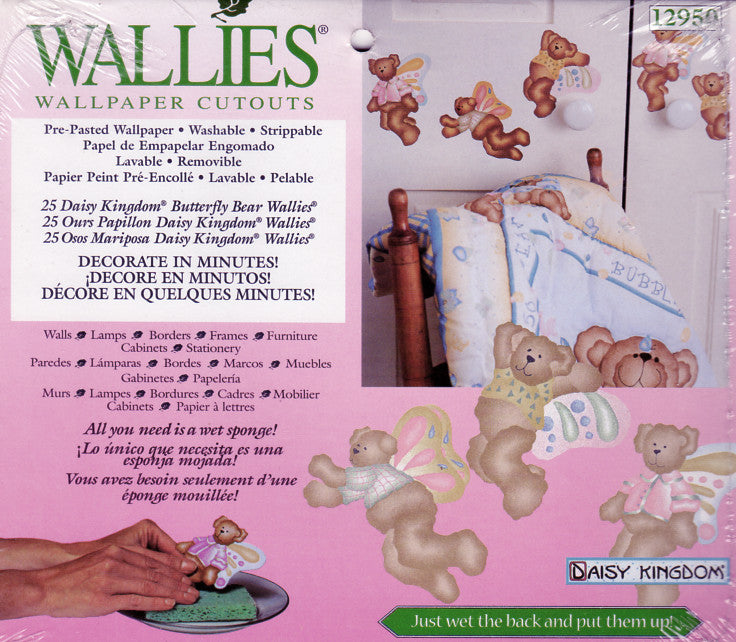 Wallies Daisy Kingdom Butterfly Bear Wallpaper Cutouts