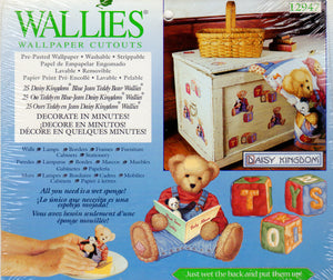 Wallies Daisy Kingdom Blue Jean Teddy Bear Wallpaper Cutouts