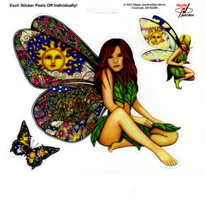 Dan Morris Butterfly Fairy Stickers -- RJ289