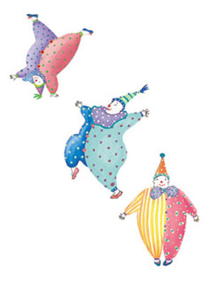 Wallies Dana Simson Bumble and Tumble Clown Wallpaper Cutouts