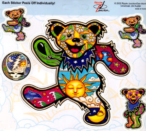 Dan Morris Grateful Dead Dancing Bears Stickers -- RJ260