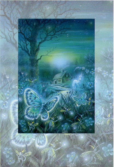 Danny Flynn Secret Garden Butterflies Art Card