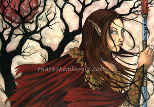 Amy Brown Dark Elf II Print -- Limited Edition