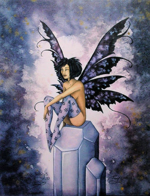 Amy Brown Dark Wings Fairy Print -- Limited Edition