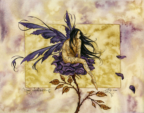 Amy Brown Dark Enchantment Fairy Greeting Card