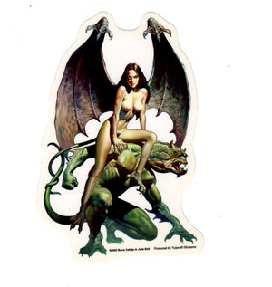 Boris Vallejo + Julie Bell Nude Dark Incubus Woman Sticker Decal