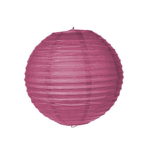 "Set of 10 Dark Fuchsia 8"" Pink Paper Lantern"