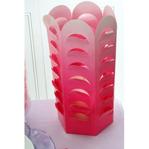 David Tutera Ombre Fuchsia Pop Up Die Cut Centerpiece -- The Girls