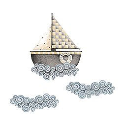Wallies Debbie Mumm Sail Away Sailboat Wallpaper Cutouts