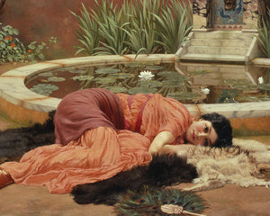 John William Godward Dolce Far Niente Art Card