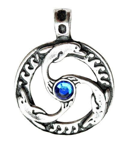 Nordic Lights Dolphin Triskilian Pendant Necklace