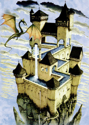 Dragon Castle Greeting Card