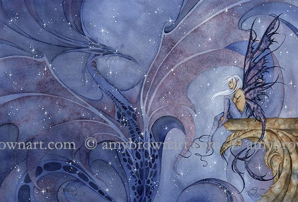 Amy Brown Dragon Dream Fairy Print -- Limited Edition 11 x 17
