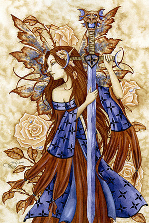 Amy Brown Dragon Sword Print -- Limited Edition