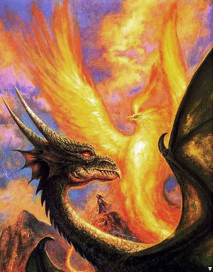 Bob Eggleton Dragon and the Phoenix Greeting Card