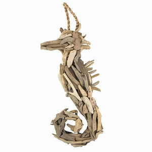 "Driftwood Seahorse -- 17"" Inches Long"