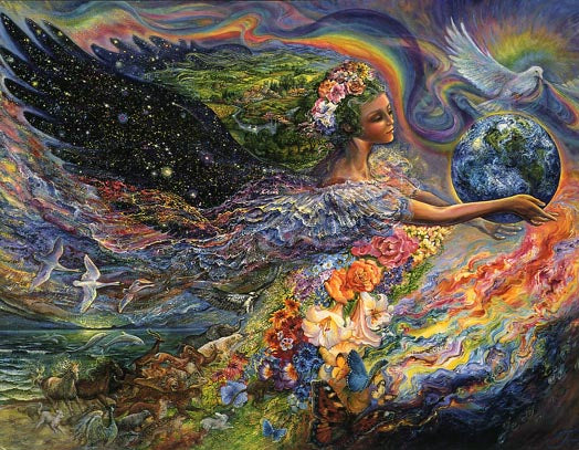 Josephine Wall Earth Angel Fairy Greeting Card