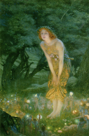 Edward Robert Hughes The Fairy Ring Art Card