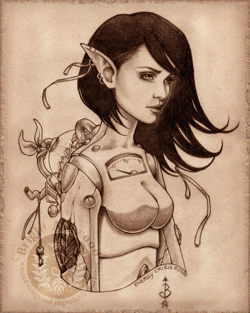 Brigid Ashwood Steampunk Fairy Print -- Energy Crisis