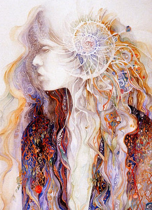 Enter the Inner Chamber Goddess Greeting Card by Helena Nelson Reed