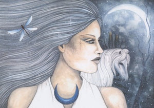 Jessica Galbreth Epona Celtic Goddess Protector of Horses Limited Edition Print -- 11 x 17