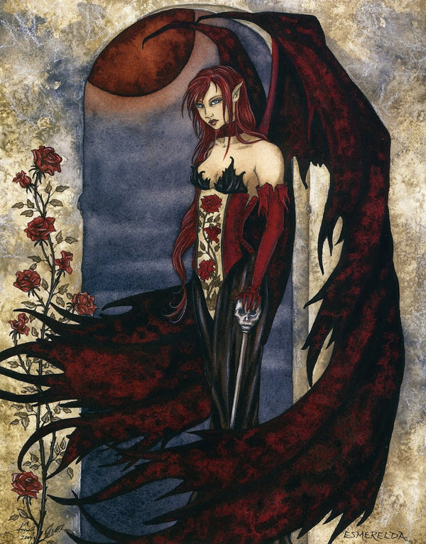 Amy Brown Esmerelda Gothic Ceramic Tile Art