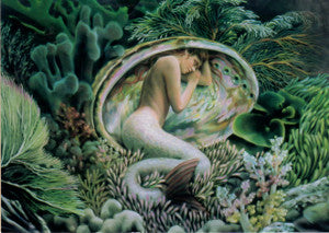 Sheila Wolk Eternity Mermaid in Abalone Shell Greeting Card