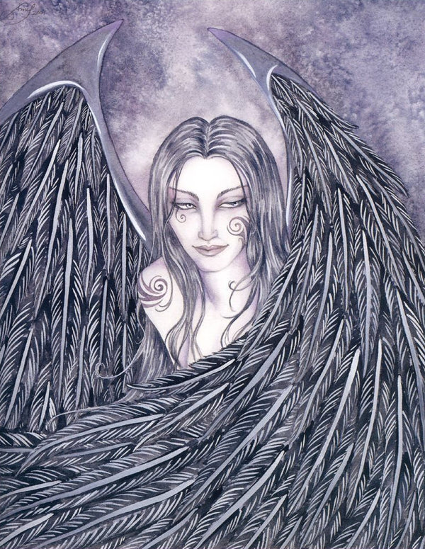 Amy Brown Gothic Evangeline Angel Print