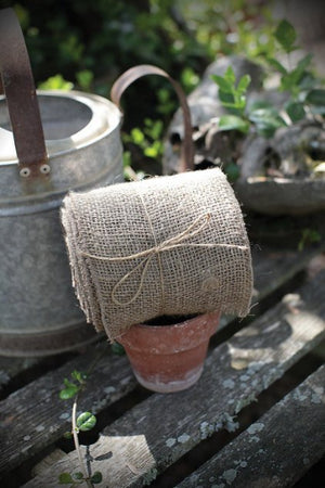 "Jute Extra Wide Burlap Ribbon -- 5 and 1/2"" wide -- 10 Yards"