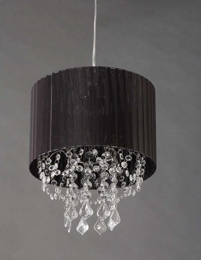 Black Fabric Acrylic Crystals Chandelier