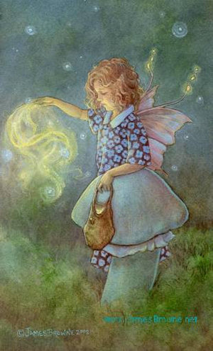 James Browne Signed Faery Dust Fairy Matted Print