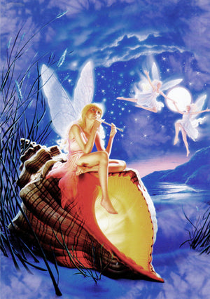 Fairy on Conch Shell Greeting Card