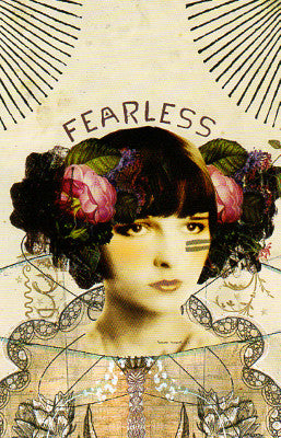 Papaya Fearless Woman Postcard