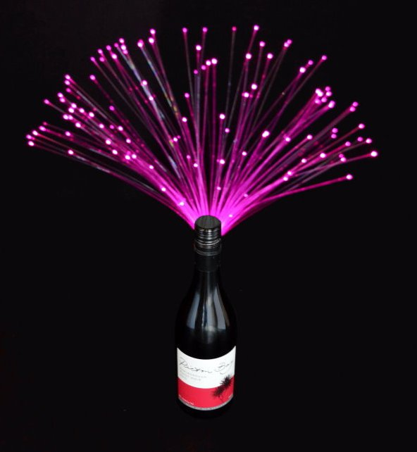 Rainbow Colors Fiber Optic Bottlebeams Bottle Lights