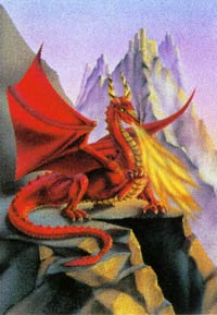 Susan Dawe Fire Dragon Greeting Card