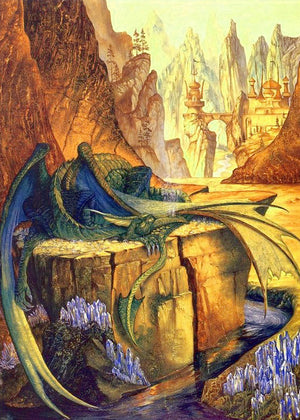 Roger Garland Fire Drake Tolkien Greeting Card