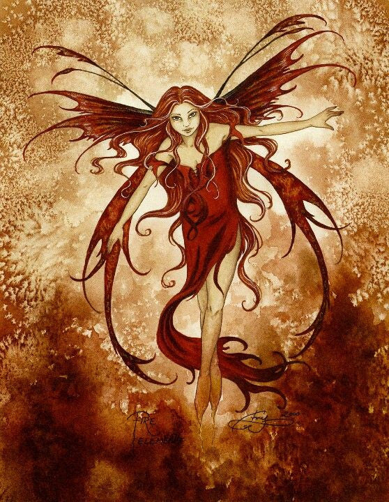 Amy Brown Fire Element Fairy Postcard