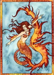 Amy Brown Fire in the Water Mermaid Print