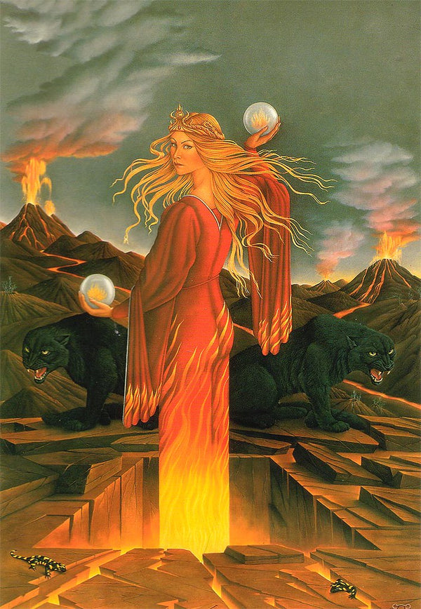 Barrington Coleby The Realm of the Fire Queen Art Card