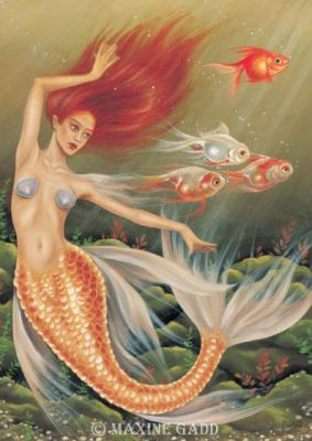 Maxine Gadd Greeting Card -- Fiskamancy Mermaid