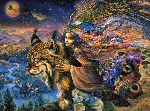 Josephine Wall Flight of the Lynx Greeting Card