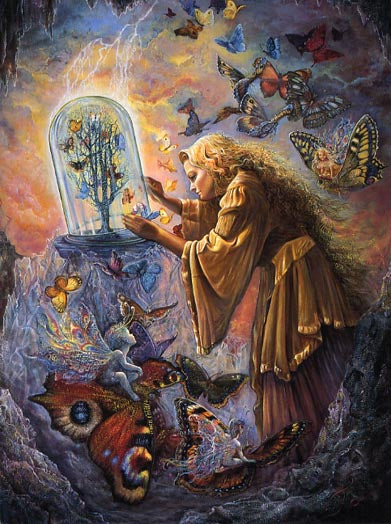 Josephine Wall Flight to Freedom Greeting Card