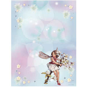 Wallies Peel and Stick Flower Fairy Dry Erase