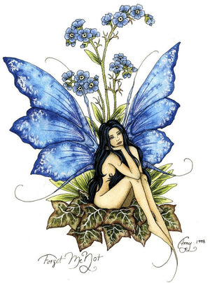 Amy Brown Forget me Not Fairy Greeting Card