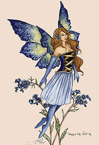 Amy Brown Forget me Not II Fairy Postcard