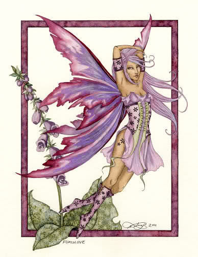 Amy Brown Foxglove Fairy Postcard