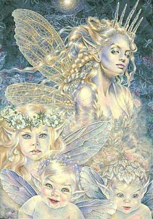 Maxine Gadd Frost Fairy and Children Print