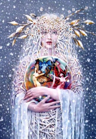 Sheila Wolk Frost Bearer Greeting Card