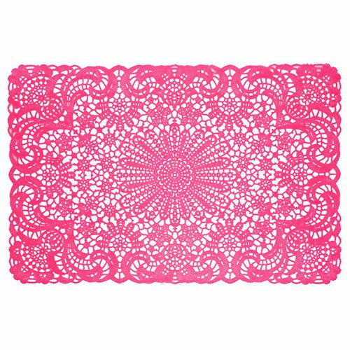 Hot Pink Vinyl Lace Placemat